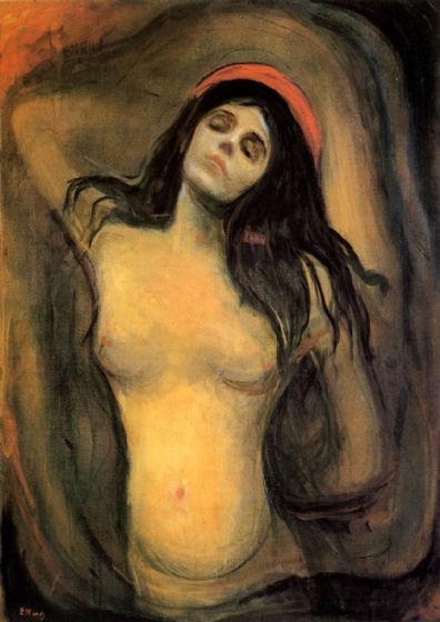 Munch, Edvard: Madonna. Fine Art Print/Poster. Sizes: A4/A3/A2/A1 (00877)